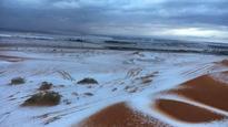 Saudi Arabian deserts receive an early Christmas gift: Snowfall