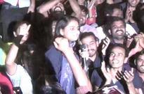 Watch video: 11-year-old sister of Umar Khalid raises lal salaam, Inquilab Zindabad slogans inside JNU