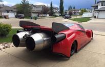 This Ferrari Enzo Dragster Was Modified In A Garage - It Packs The Best Surprise Ever