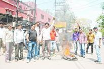 Bandh mob targets biker