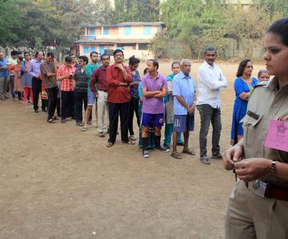 55% voting in Mumbai; CM thanks people for 'record' turnout