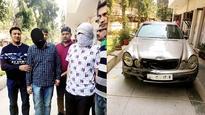 Men who ran over students in cops net