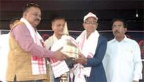 Veteran athlete honoured at North Lakhimpur