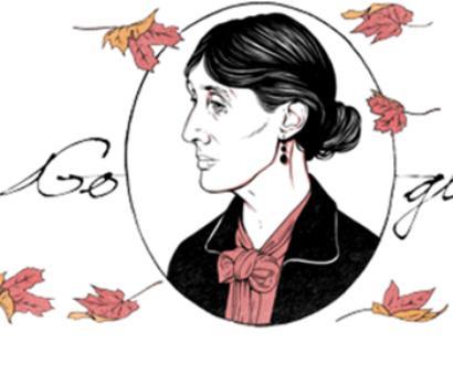 Google doodle celebrates Virgina Woolf's b'day