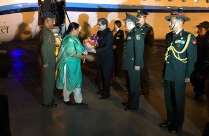 Sitharaman arrives in China to attend SCO defence ministers' meeting