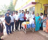 Udupi: District NSUI celebrates Diwali with children, elderly at orphanage