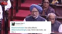 Leave alone what he said, Twitterati can't get over ex-PM Manmohan Singh speaking in Rajya Sabha