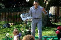 A look back at the best photographs of Barack Obama's quality time with kids