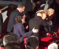 Falling star: Jennifer Lawrence trips again at X-Men premiere