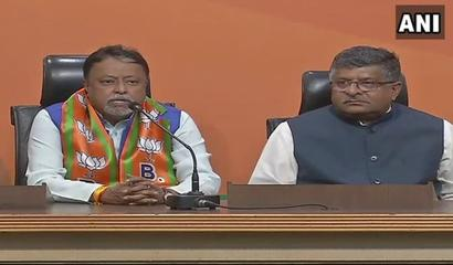 Mukul Roy joins BJP a month after quitting TMC