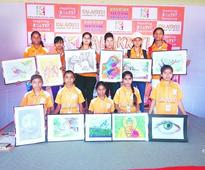 Rural girls pour their heart out on canvas