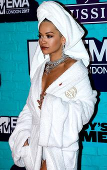 A bathrobe on the red carpet. Is this the weirdest look yet?