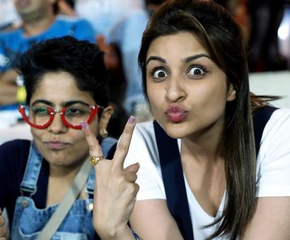 SPOTTED! Parineeti Chopra at IPL 10