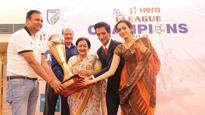 Minerva Punjab presented with Hero I-League trophy