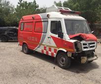 Gurgaon: Elderly woman dies after speeding SUV hits ambulance