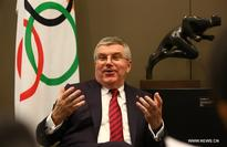 Thomas Bach takes interview with Xinhua in Switzerland