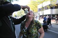 Protesters And Police Clash Outside City Hall After Portland Police Union Contract Vote