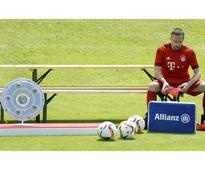 Finally: Ribery returns to Bayern training after nine months