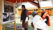 His Majesty visits Drugyel Dzong reconstruction site