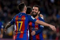 Sports: BARCA ROUT HERCULES: Barcelona's reserves triumph in Copa del Rey on second attempt