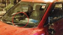 Two injured as car rams into bike