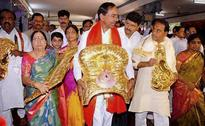 K Chandrasekhar Rao Offers Rs 3.5 Crore Golden Crown To Temple