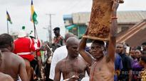 Pageantry and politics mix as Nigeria's Benin City crowns new ruler