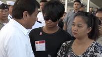 President Duterte Condoles With Family Of Fallen Navy