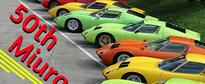 Wow, There Are a Lot of Lamborghini Miuras at the 50th Anniversary Gathering!
