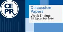 CEPR Discussion Papers 25 September 2016