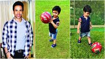 Bending it like Lakkshya: Tusshar Kapoor's begins Football sessions for his son