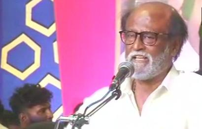 Rajini unveils MGR statue, delivers debut speech after floating party