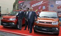 launching the Young SUV KUV100 car