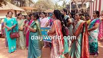 Udupi: Anganwadi workers , assistants protest for increase in remuneration