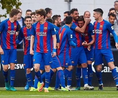 Here's what happened after Barca B left their opponents in tears