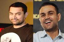 Aamir Khan and Virendra Sehwag bond over Ladoos.