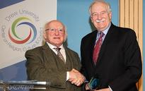 Irish President presented Peace Building Award to former US Congressman Bruce Morrison (IrishCentral)
