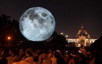 Giant replica of moon unveiled in Kolkata