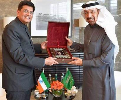 Indian flag seen upside down during Goyal's visit to Abu Dhabi