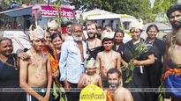 Ayyappa devotee Mikku from Moscow on his 6th visit to Sabarimala