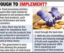 Riders to allow FDI in food product retail worry government