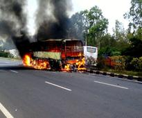 Miraculous escape for passengers of Chennai-bound bus