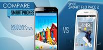 Spice Smart Flo Pace 2 vs Micromax Canvas Viva