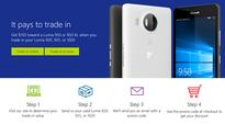 Microsoft will discount the Lumia 950 by $150 when you trade in a Lumia 920, 925, or 1020