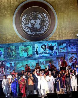 Rahman celebrates India at UN General Assembly