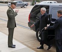 Mad Dog Mattis arrives at Pentagon