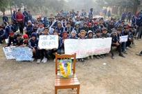 Boy's death sparks students protest