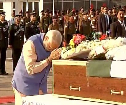 PM pays homage to 4 army men killed in Kashmir encounters