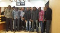Eight including seven Nigerians held for fraudulence