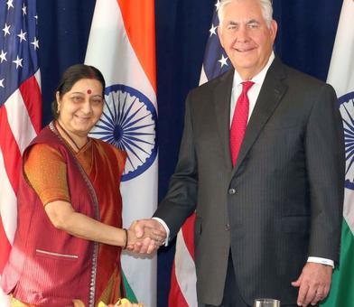 Swaraj raises issue of terrorism, H1B with Tillerson